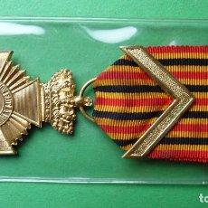 Militaria: BÉLGICA. CONDECORACIÓN MILITAR DE LARGO SERVICIO. 1919. 1ª CLASE. CON ÁNGULO. Lote 180246507