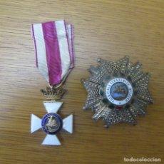 Militaria: LOTE MEDALLA Y PLACA SAN HERMENEGILDO GUERRA CIVIL. Lote 180264617