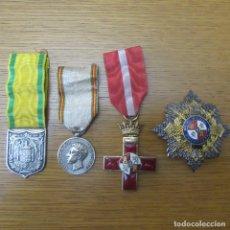 Militaria: LOTE MEDALLAS Y PLACA GUERRA CIVIL FALANGE. Lote 180264896
