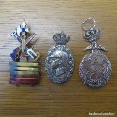 Militaria: LOTE MEDALLAS Y PLACA GUERRA CIVIL FALANGE LEGION. Lote 180265170