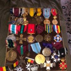 Militaria: LOTE DE 28 MEDALLAS MILITARES ANTIGUAS ORIGINALES - VER LAS IMÁGENES. Lote 180394713