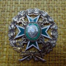 Militaria: PLACA O SIMILAR, ORDEN DE MALTA, SAN LAZARO, PLATA Y ESMALTE, DIAMETRO 6 CM, BUEN ESTADO. Lote 180399662