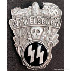 Militaria: INSIGNIA CONMEMORATIVA CASTILLO DE WEWELSBURG SS ALEMANIA NAZI TERCER REICH SCHUTZSTAFFEL . Lote 180420301
