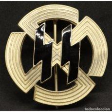 Militaria: DISTINTIVO RUNAS GERMANICAS DE LAS SS ALEMANIA NAZI TERCER REICH SCHUTZSTAFFEL M1/25. Lote 180421802