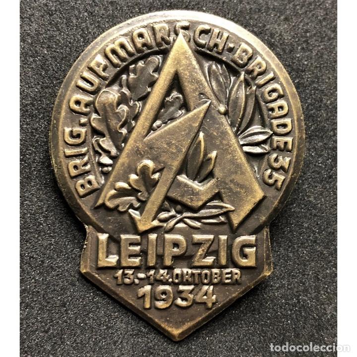 INSIGNIA SA LEIPZIG 1934 ALEMANIA NAZI TERCER REICH STURMABTEILUNG (Militar - Reproducciones y Réplicas de Medallas )