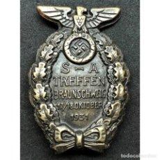 Militaria: INSIGNIA SA BRUNSWICK 1931 ALEMANIA NAZI TERCER REICH STURMABTEILUNG . Lote 180484742