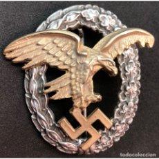 Militaria: DISTINTIVO DE PILOTO OBSERVADOR ALEMANIA NAZI TERCER REICH LUFTWAFFE. Lote 180499593