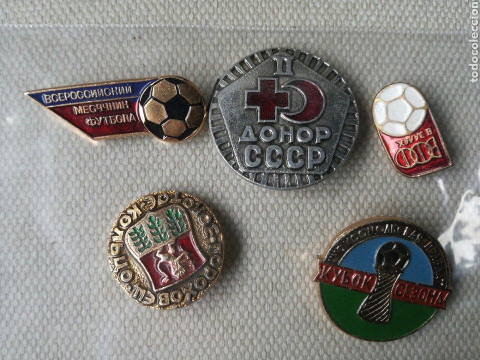 LOTE DE 5 PINS INSIGNIAS RUSIA - UNION SOVIETICA (Militar - Medallas Extranjeras Originales)