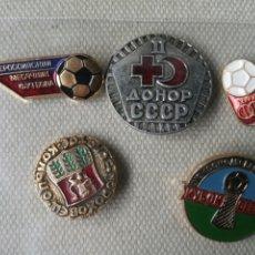 Militaria: LOTE DE 5 PINS INSIGNIAS RUSIA - UNION SOVIETICA. Lote 180841632