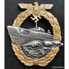 Militaria: DISTINTIVO DE COMBATE DE LANCHAS RAPIDAS ALEMANIA NAZI TERCER REICH KRIEGSMARINE. Lote 180866402