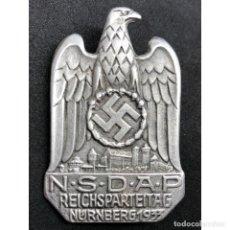 Militaria: INSIGNIA NSDAP REICHSPARTEITAG NÜRNBERG 1933 ALEMANIA PARTIDO NAZI TERCER REICH. Lote 181071668
