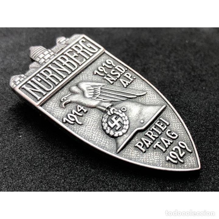 Militaria: INSIGNIA PARTEITAG 1929 NUREMBERG NSDAP Alemania Partido Nazi Tercer Reich - Foto 3 - 181072143