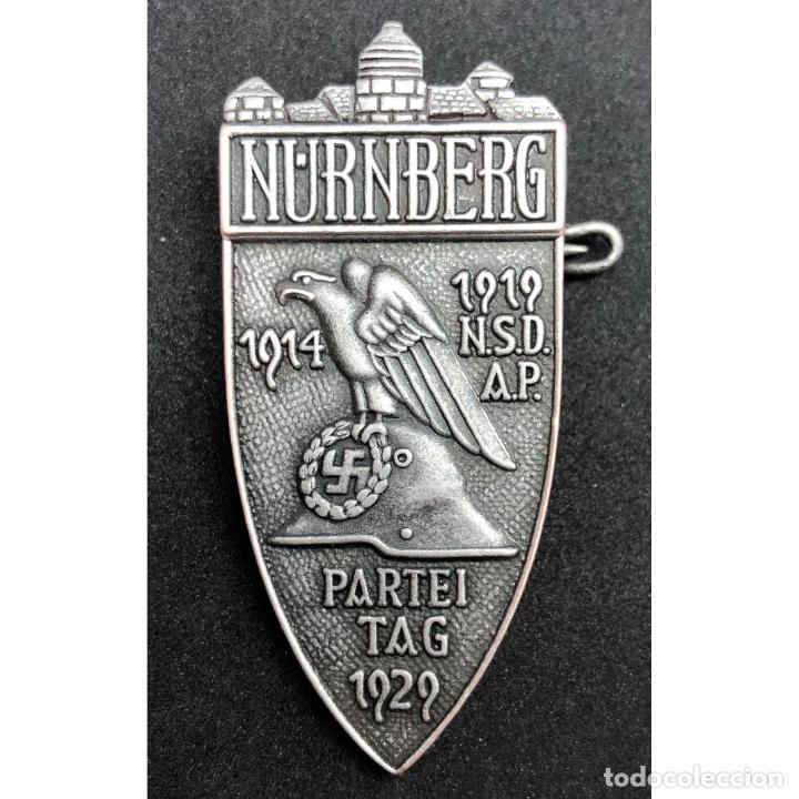 INSIGNIA PARTEITAG 1929 NUREMBERG NSDAP ALEMANIA PARTIDO NAZI TERCER REICH (Militar - Reproducciones y Réplicas de Medallas )