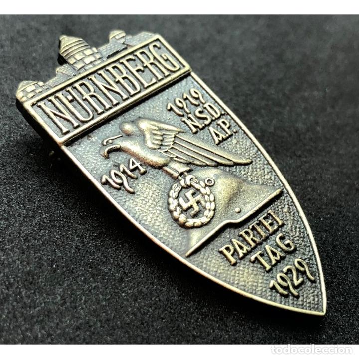 Militaria: INSIGNIA PARTEITAG 1929 NUREMBERG NSDAP Alemania Partido Nazi Tercer Reich - Foto 4 - 181072176