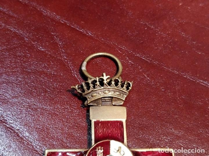 Militaria: Reproducción medalla cruz del mérito militar distintivo rojo - 3.3 x 6cm - Foto 4 - 222677670