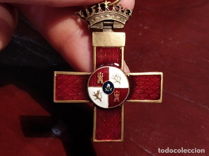 Militaria: Reproducción medalla cruz del mérito militar distintivo rojo - 3.3 x 6cm - Foto 5 - 222677670