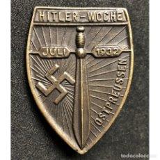 Militaria: INSIGNIA PRUSIA ORIENTAL 1932 NSDAP ALEMANIA PARTIDO NAZI TERCER REICH. Lote 181402170