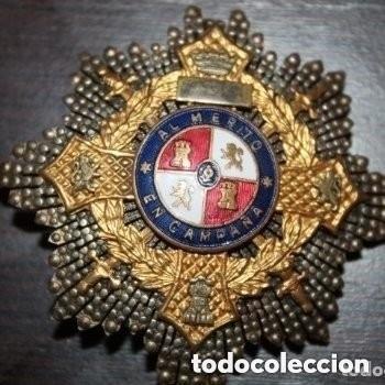 CRUZ DE GUERRA. MÉRITO EN CAMPAÑA. PLACA PARA JEFES, VERSIÓN ORO. PERÍODO GUERRA CIVIL. (Militar - Medallas Españolas Originales )