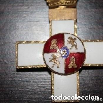 CRUZ DE 1ª CLASE DEL MERITO MILITAR CON DISTINTIVO BLANCO - EPOCA FRANCO (Militar - Medallas Españolas Originales )