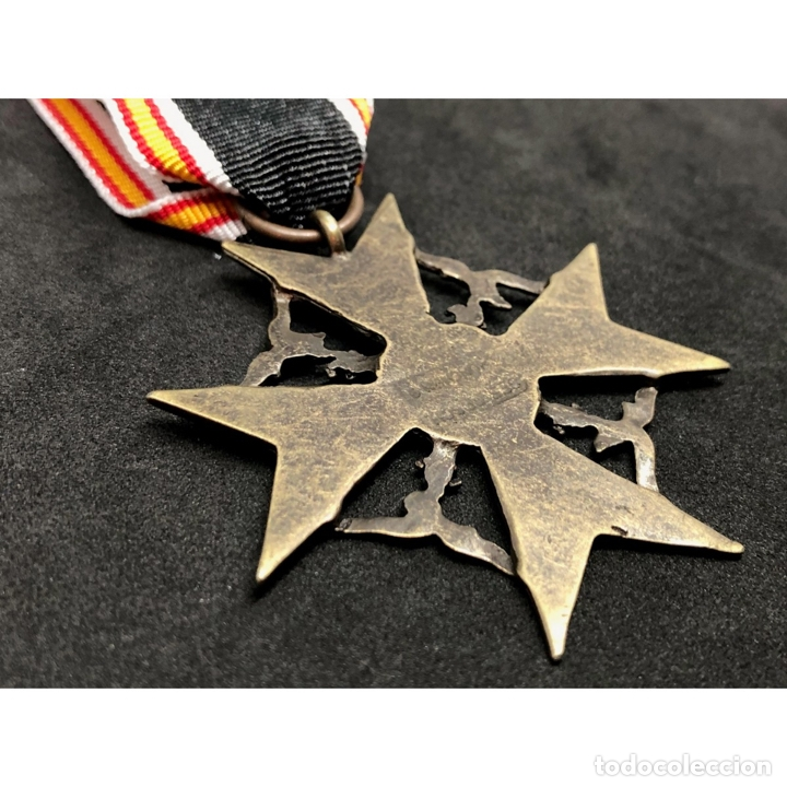 Militaria: MEDALLA CRUZ DE GUERRA ESPAÑOLA Legión Condor Alemania Nazi Tercer Reich - Foto 4 - 262494740