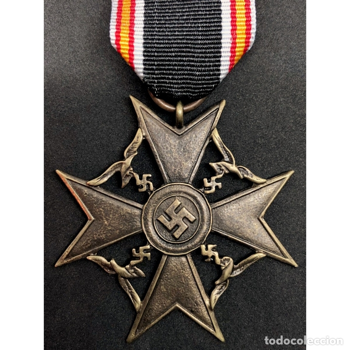 MEDALLA CRUZ DE GUERRA ESPAÑOLA LEGIÓN CONDOR ALEMANIA NAZI TERCER REICH (Militar - Reproducciones y Réplicas de Medallas )