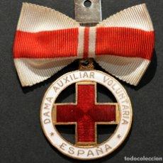 Militaria: ANTIGUA MEDALLA CRUZ ROJA ESPAÑA DAMA AUXILIAR VOLUNTARIA NUMERADA. Lote 181613697