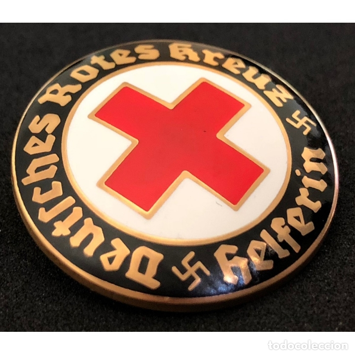 Militaria: INSIGNIA PIN DRK CRUZ ROJA ALEMANA Alemania Partido Nazi Tercer Reich - Foto 3 - 181758720