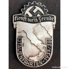 Militaria: INSIGNIA ITALIEN FAHRTEN 1937 1938 ALEMANIA PARTIDO NAZI TERCER REICH. Lote 181760491