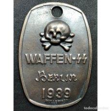 Militaria: CHAPA IDENTIFICACION WAFFEN SS BERLIN 1939 ALEMANIA PARTIDO NAZI TERCER REICH SCHUTZSTAFFEL. Lote 181768048