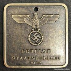 Militaria: CHAPA IDENTIFICACION SS GESTAPO ALEMANIA PARTIDO NAZI TERCER REICH SCHUTZSTAFFEL. Lote 220496738