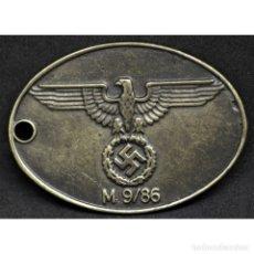 Militaria: CHAPA IDENTIFICACION GESTAPO SS POLICIA ALEMANIA PARTIDO NAZI TERCER REICH SCHUTZSTAFFEL. Lote 262494725