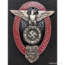 Militaria: PLACA DE COCHE BRAUNE PFINGSTEN 1933 ALEMANIA PARTIDO NAZI TERCER REICH SCHUTZSTAFFEL. Lote 181770101