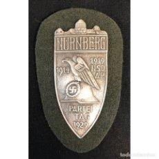 Militaria: ESCUDO NÜRNBERG ALEMANIA NAZI TERCER REICH WEHRMACHT. Lote 181776107