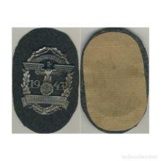 Militaria: ESCUDO NSKK 1943 ALEMANIA NAZI TERCER REICH WEHRMACHT. Lote 181776458