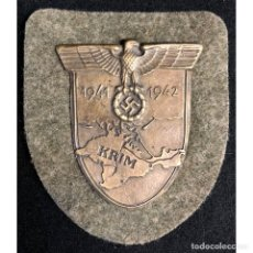 Militaria: ESCUDO KRIM CRIMEA 1941 1942 ALEMANIA NAZI TERCER REICH WEHRMACHT. Lote 181780981