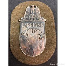 Militaria: ESCUDO LAPONIA ALEMANIA NAZI TERCER REICH WEHRMACHT. Lote 181781311