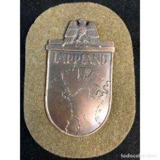 Militaria: ESCUDO LAPONIA ALEMANIA NAZI TERCER REICH WEHRMACHT. Lote 181781562