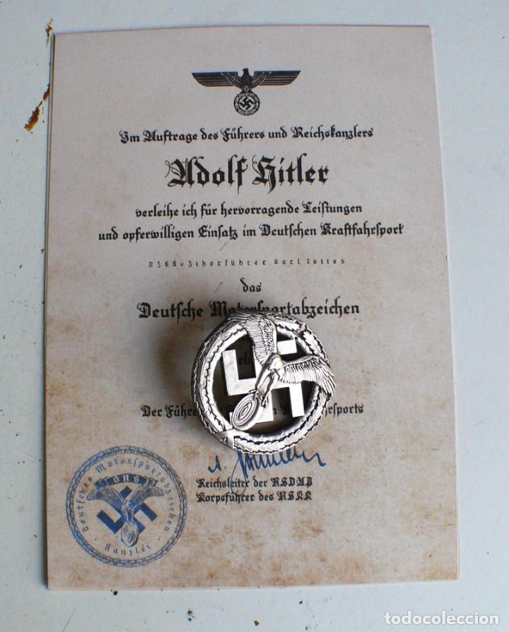 Militaria: Insignia Motorsport. plata .Tercer Reich. nazi - Foto 4 - 207601875