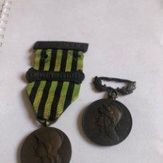 Militaria: LOTE DE 2 MEDALLAS EXTRANJERAS FRANCESAS POR CLASIFICAR. Lote 181884816
