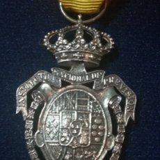 Militaria: MEDALLA EN CAJA DE INSTITUTO NACIONAL DE PREVISIÓN DE SEGUROS, EN PLATA. Lote 181987761