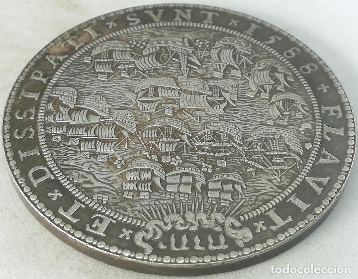 RÉPLICA MEDALLA 1588. HOLANDA. ARMADA INVENCIBLE, REY FELIPE II, ESPAÑA (Militar - Reproducciones y Réplicas de Medallas )