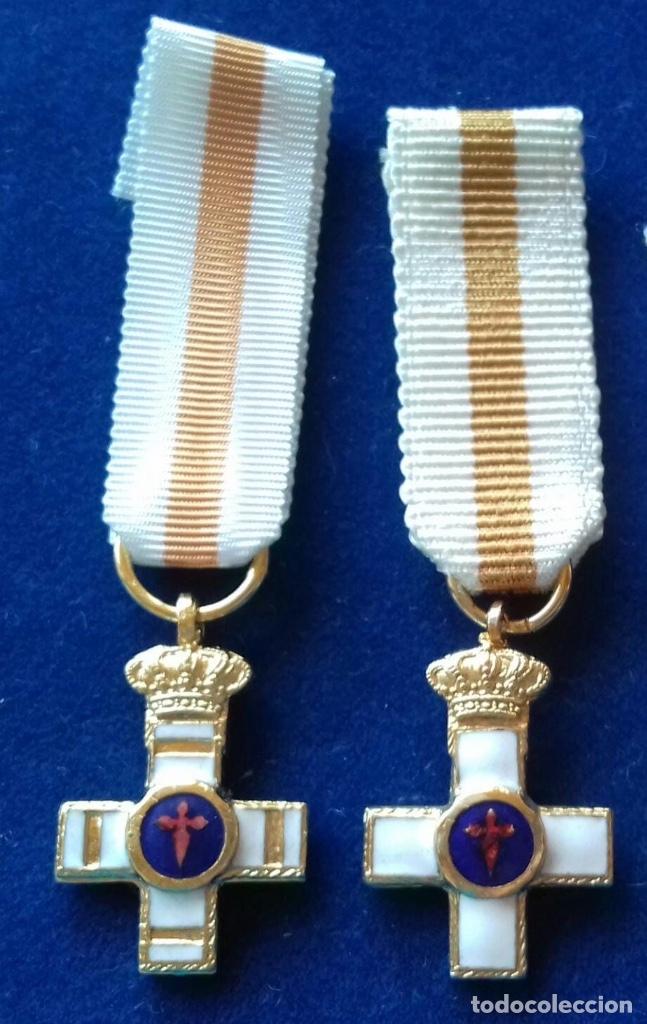 LOTE 2 MEDALLAS MINIATURA - CONSTANCIA DE SUBOFICIALES Y SAN HERMENEGILDO (Militar - Medallas Españolas Originales )