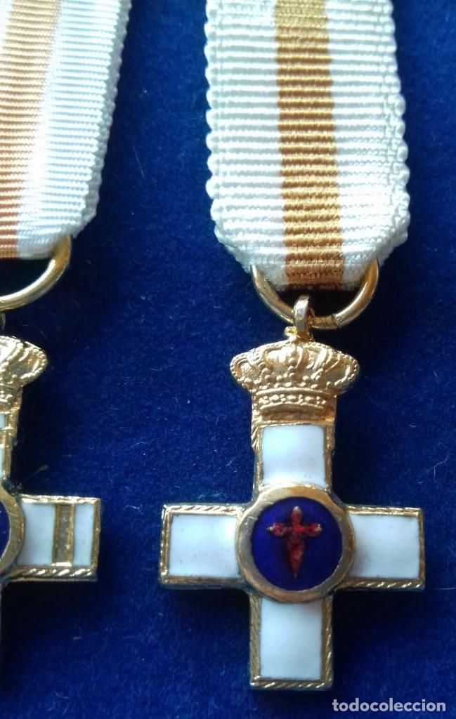 Militaria: LOTE 2 MEDALLAS MINIATURA - CONSTANCIA DE SUBOFICIALES Y SAN HERMENEGILDO - Foto 3 - 143783954