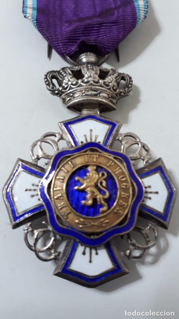 CONDECORACIÓN ORDEN DE LEOPOLDO DE BÉLGICA EN PLATA.CON CAJA (Militar - Medallas Extranjeras Originales)