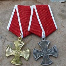 Militaria: LOT. 2 MEDALLAS. ORDEN DE CORAJE.ORO Y PLATA. RUSIA. Lote 182248638