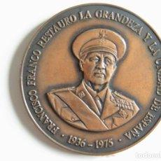Militaria: MEDALLA FUNDACIÓN NACIONAL FRANCISCO FRANCO XX ANIVERSARIO: FRANCO 1936-1975 . Lote 182263387