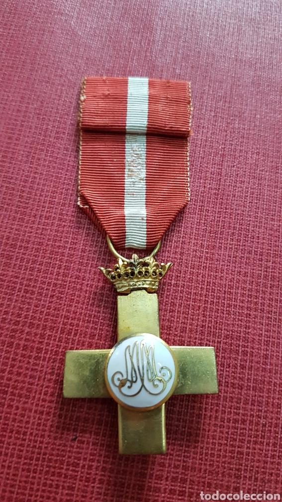 Militaria: Medalla cruz merito militar roja época Franquista - Foto 2 - 182267531