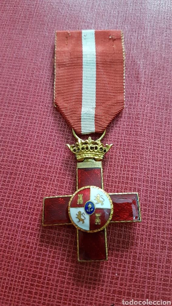 MEDALLA CRUZ MERITO MILITAR ROJA ÉPOCA FRANQUISTA (Militar - Medallas Españolas Originales )