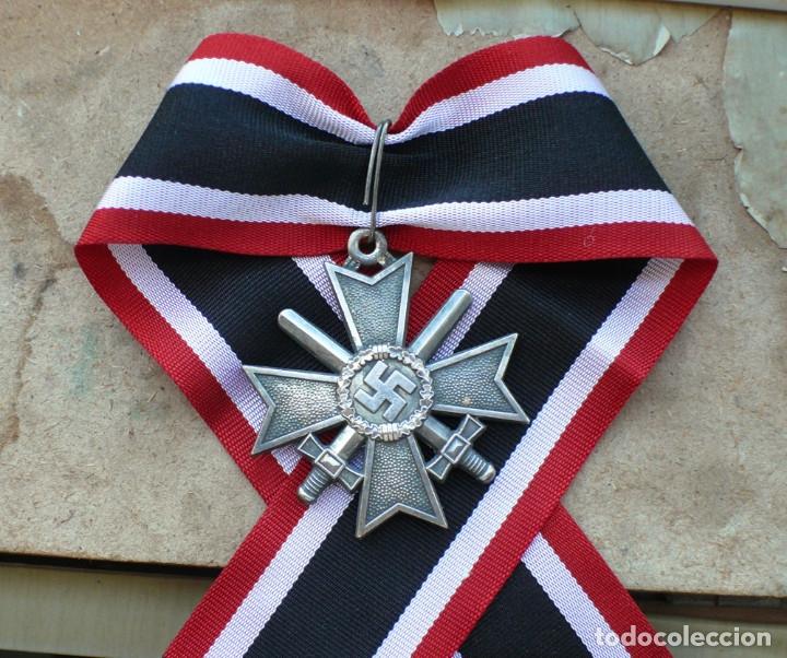 Militaria: Cruz de Caballero al Mérito con Espadas. Ritterkreuz des Kriegsverdienstkreuz. - Foto 3 - 182276143