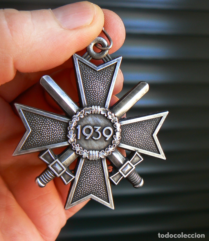 Militaria: Cruz de Caballero al Mérito con Espadas. Ritterkreuz des Kriegsverdienstkreuz. - Foto 4 - 182276143